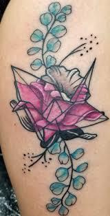 origami crane tattoo ken olea of fiendz body art modesto ca