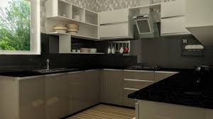 modular kitchen design cream raised panel kitchen cabinet light