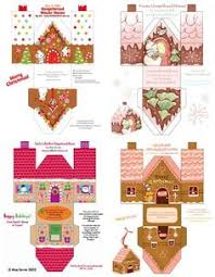 gingerbread house template cerca con google boxes pinterest