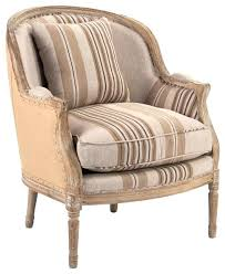 Burlap Dining Chairs Striped Fabric Armchairs French Country Burlap Brown Stripe Club