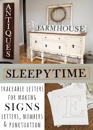 free printable u0026 traceable letters for making farmhouse style signs