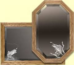themed mirror fishing themed mirrors etched fisherman mirror decorative