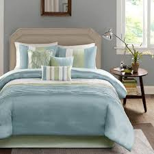 Blue And White Comforter Shop Madison Park Carter Green Comforter Collection The Home