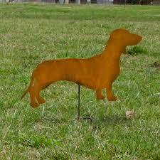 dachshund garden stake dachshund outdoor home decor rusted