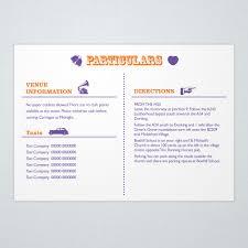 Wedding Invitation Information Card Wedding Card Design Classic Layout Stunning Wedding Information
