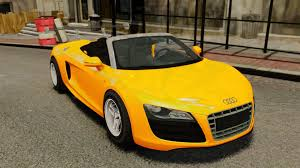 Audi R8 Yellow - audi r8 spyder for gta 4