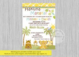 printed or digital baby simba lion king baby shower