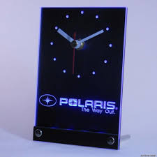 wholesale tnc0170 polaris snowmobile table desk 3d led clock clock