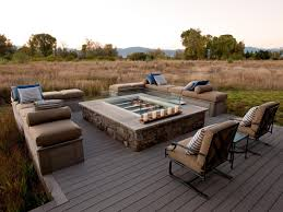 fire pit wood deck photo page hgtv
