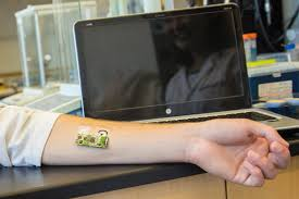 flexible wearable electronic skin patch offers new way to monitor