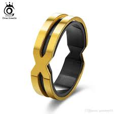men rings cool stainless steel rings for men women letter x shape gold color
