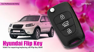 hyundai flip key shell replacement youtube