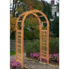 decorating natural brown wood trellises for garden decoration ideas