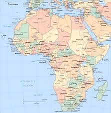 Physical Africa Map africa physical map countries