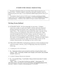 literary analysis essays essay cover letter examples of literary