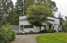photos of the walter gropius house in lincoln massachusetts