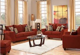 furniture impressive louella cherry red leather sectional sofa