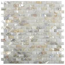 cream brick pearl shell tile kitchen backsplash renovation