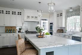 Blue Kitchen Countertops - white and blue kitchen transitional kitchen sherry hart designs