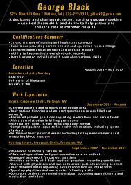 new graduate nurse resume template 165 resume examples nursing