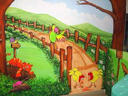 how to paint a mural on textured wall wall murals you ll love cartoon painting gallery images interior wall ideas custom wall mural