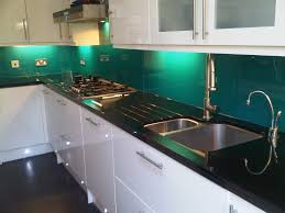Splash Guard Kitchen Sink by Turquoise Splashback With Black And White Kitchen Google Search