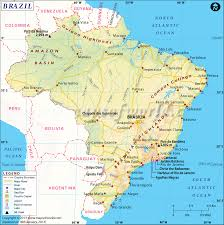 Mountains Of The World Map by Brazil Map Map Of Brazil