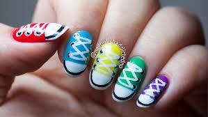 converse shoes nail art tutorial by nailpolishaddicted youtube