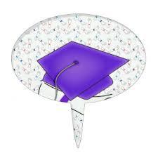 purple graduation cap purple graduation cake toppers zazzle