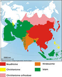 World Religions Map Www Mappi Net Maps Of Continents Asia
