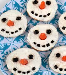 jennuine by rook no 17 snowman bagels an adorable u0026 easy