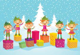 christmas elves merry christmas elves vector illustration yuliya yurchenko