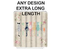 Shower Curtains Extra Long Extra Long Tassel Shower Curtain Color Options