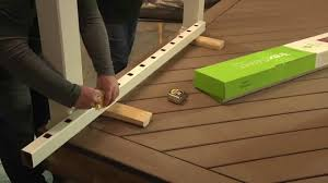 Banister Railing Installation How To Install Trex Select Deck Railing Posts U0026 Balusters Youtube
