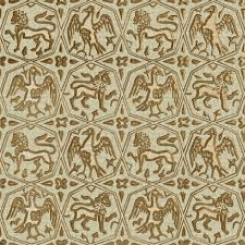 gold fabric charles de blois gambeson eagles and lions beige and gold fabric