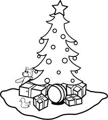 free printable christmas tree coloring page for kids