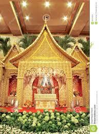 indonesian traditional wedding decoration stock images image