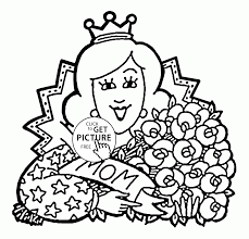 beautiful mom mother u0027s day coloring page for kids coloring