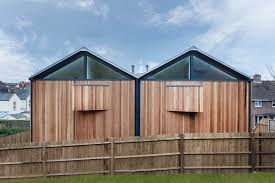 shed style architecture the cedar lodges adam knibb architects archdaily