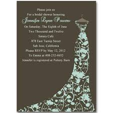 Wedding Shower Invites Cheap Brown Floral Gown Bridal Shower Invitations Printable