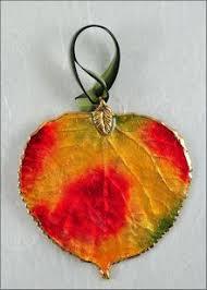 leaf ornaments aspen ornaments