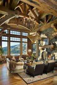 mountain home interiors timber frame mountain home with rustic details in big sky