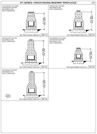 Standard Fireplace Dimensions by Masonry Fireplace Dimensions Fireplace Ideas