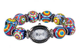 murano beads bracelet images Magic classic bead watch silver by angela moore hand painted jpg