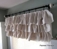 Curtains With Ruffles Make Your Own Ruffled Curtains From Painter S Drop Cloths Hometalk