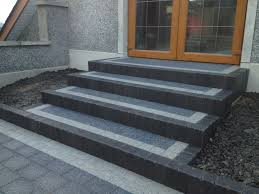 Step Arte Polished Concrete Dark Stephen Gibson Paving U2013 Cullybackey Great Steps To Front Door In