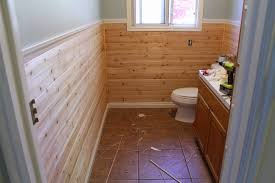 tongue and groove bathroom ideas planking the bathroom part 1 chris loves julia