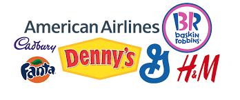 brand logo design using type in logo designs create