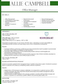 Sample Resume For Administrative Assistant Office Manager by Office Manager Resume 2016 Best Samples