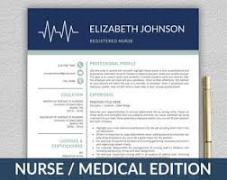 Resume Templates Rn Nurse Resume Etsy